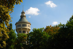 Old water tower on Margaret Island, Budapest Royalty Free Stock Images