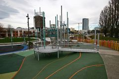 Margaret Mahy Family Playground, Christchurch, Nieuw Zeeland stock afbeelding