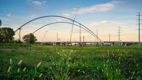 Margaret McDermott Bridge. Is building as another landmark bridge in Dallas, TX Stock Images