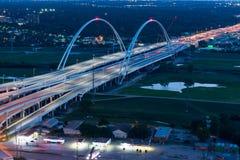 Margaret Mcdermott Bridge Dallas, le Texas image libre de droits