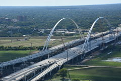 Margaret McDermott Bridge in Dallas, Texas Stock Photos