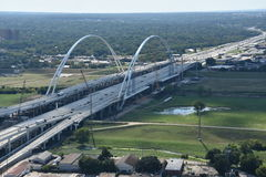 Margaret McDermott Bridge in Dallas, Texas Royalty Free Stock Photography