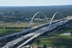 Margaret McDermott Bridge in Dallas, Texas Royalty Free Stock Photos