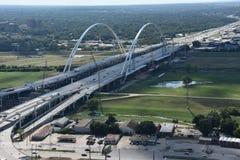 Margaret McDermott Bridge in Dallas, Texas Stock Photo