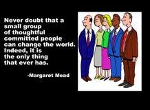 Margaret Mead Quote royalty illustrazione gratis