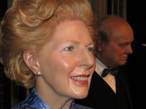 Margaret Thatcher - estátua da cera foto de stock