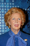 Margaret Thatcher. London, - United Kingdom, 08, July 2014. Madame Tussauds in London. Waxwork statue of Margaret Thatcher . Created by Madam Tussauds in 1884 royalty free stock photos