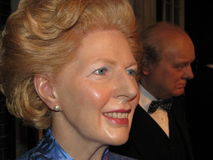 Margaret Thatcher - wax statue. Wax statue of Margaret Thatcher, Prime Minister of the United Kingdom from 1979 to 1990, at Madame Tussaud's in London stock photo