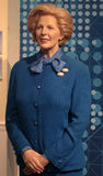 Margaret Thatcher. Wax statue at Madame Tussauds in London royalty free stock photo