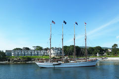 The Margaret Todd schooner in historic Bar Harbor Royalty Free Stock Photography