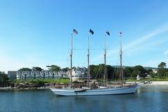 The Margaret Todd schooner in historic Bar Harbor Royalty Free Stock Photography
