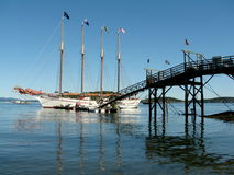 Margaret Todd ship in Bar Harbor USA Royalty Free Stock Image