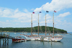 The Margaret Todd ship in historic Bar Harbor Stock Photo