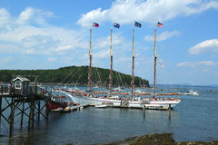 The Margaret Todd ship in historic Bar Harbor Stock Images