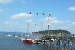 The Margaret Todd ship in historic Bar Harbor Royalty Free Stock Photo