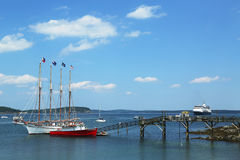 The Margaret Todd ship in historic Bar Harbor Royalty Free Stock Images