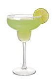 Margareta cocktail on a white background. Margareta cocktail with segment of lime on a white background Royalty Free Stock Image