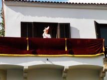 Margareta, Princess Rumunia balkon w Elisabeth pałac fotografia royalty free