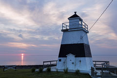 Margaretsville Lighthouse at sunset Stock Photography
