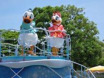 Margarida e pato de Donald Foto de Stock
