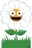 Margarida engraçada em um jardim ilustração do vetor