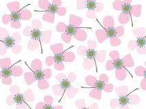 Margaridas da cor-de-rosa de bebê ilustração do vetor