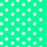 Margaridas pequenas em um fundo verde, teste padrão sem emenda Imagem de Stock Royalty Free