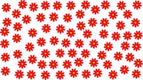 Margaridas vermelhas Fotografia de Stock Royalty Free