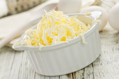 Margarine. On the shabby table Stock Photos
