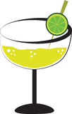 Margarita. Alcohol margarita drink with lime Stock Photos