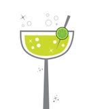 Margarita. Fancy lime lemon alcohol margarita royalty free illustration
