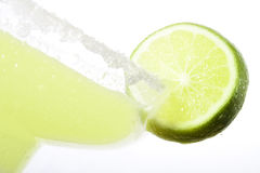 Margarita. High Key closeup shot of Margarita with a slice of lime royalty free stock photos