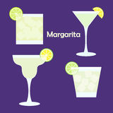 Margarita alcohol cocktail Stock Photography