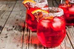 Margarita anaranjado sangriento del cóctel Imágenes de archivo libres de regalías