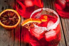Margarita anaranjado sangriento del cóctel Foto de archivo libre de regalías