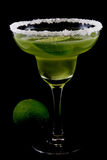 Margarita on black. With lime Royalty Free Stock Images