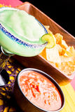 Margarita, Chips and Salsa Stock Photography