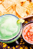 Margarita, Chips and Salsa Royalty Free Stock Photography