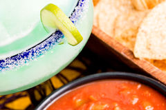 Margarita, Chips and Salsa Royalty Free Stock Image