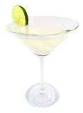 Margarita cocktail. In white background royalty free stock photography