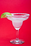 Margarita Cocktail. On a red background royalty free stock images