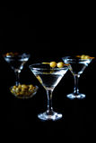 Margarita cocktail alcohol drink in with green olives Royalty Free Stock Photos