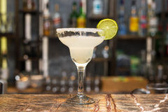 Margarita cocktail. On bar counter Stock Images