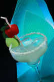 Margarita cocktail on blue Stock Images
