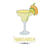 Margarita cocktail for a customer illustration for bar business Stock Image