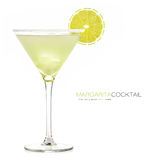 Margarita Cocktail. Frozen Drink Stock Images