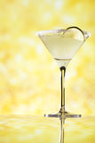 Margarita  cocktail glitter golden background Stock Photo