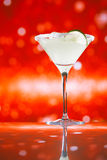 Margarita  cocktail glitter red golden background Stock Photo