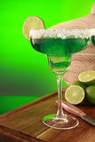 Margarita cocktail on green Royalty Free Stock Image