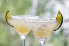 Margarita cocktail with lime Stock Photo